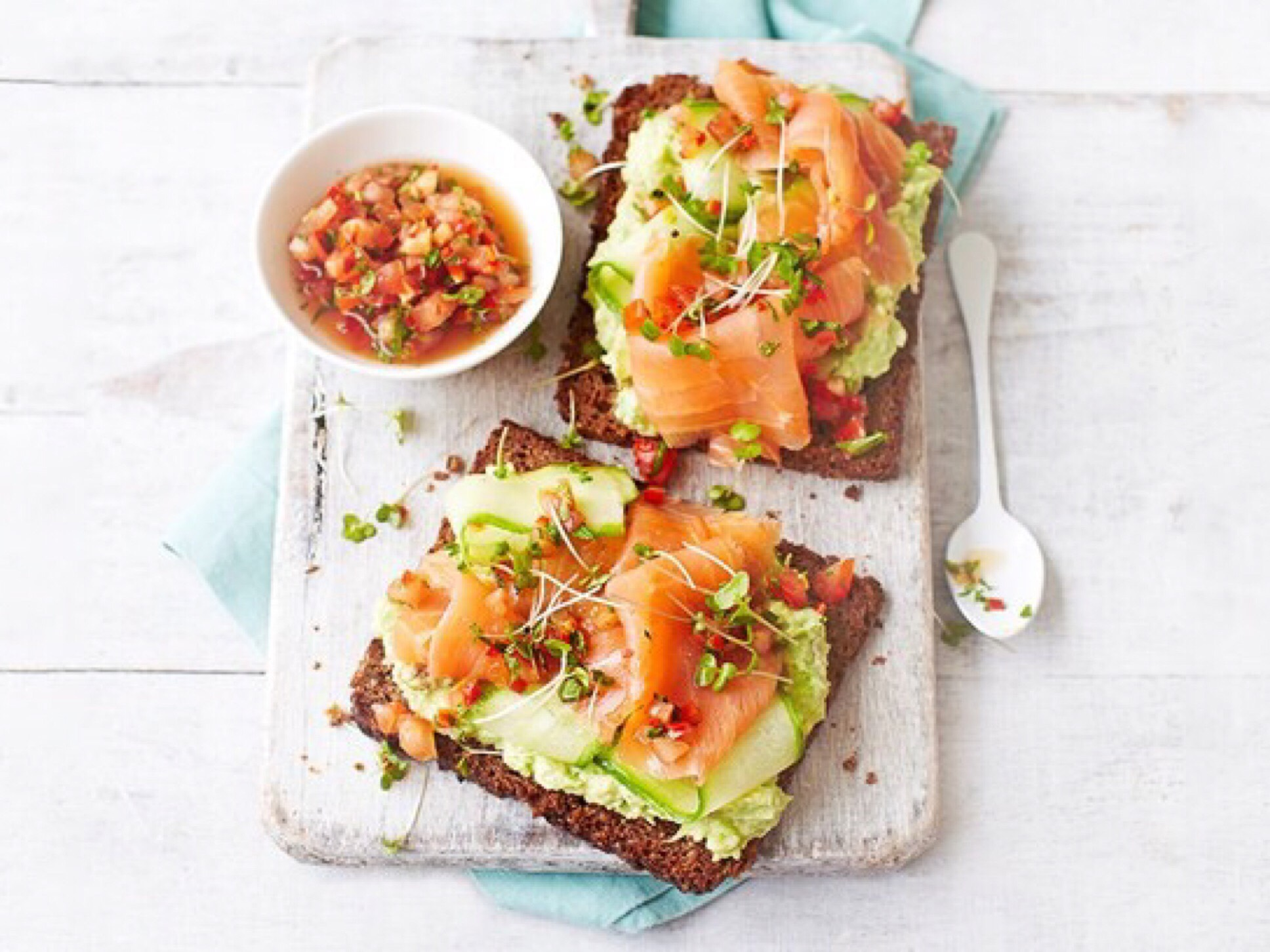 Salmon and Avocado - Breakfast in Bed