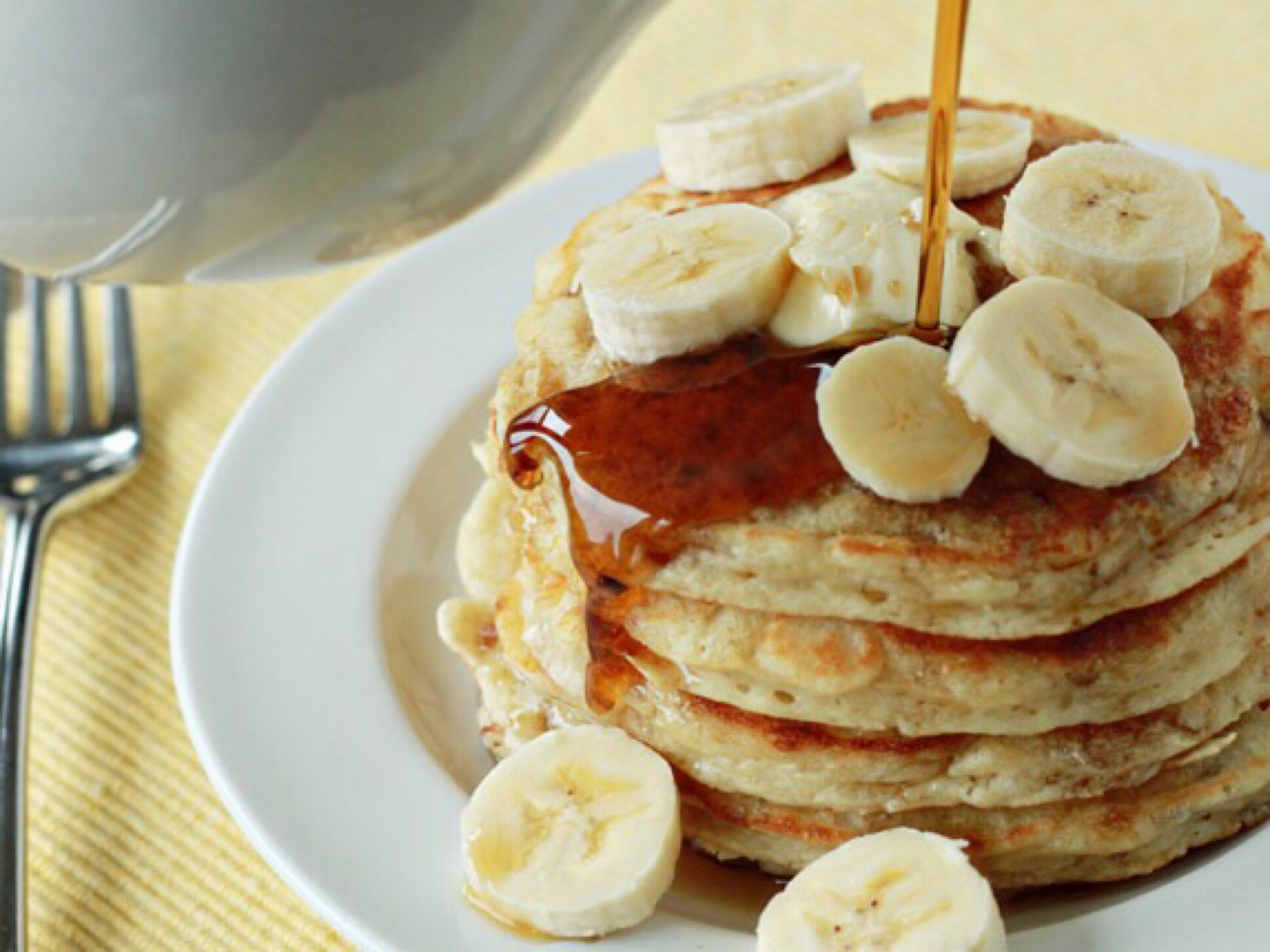 banana pancakes - breakfast in bed