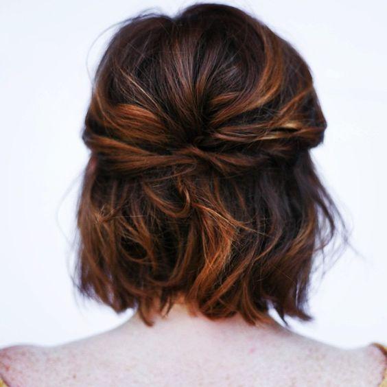 Prom hair idea for a girl with a short bob