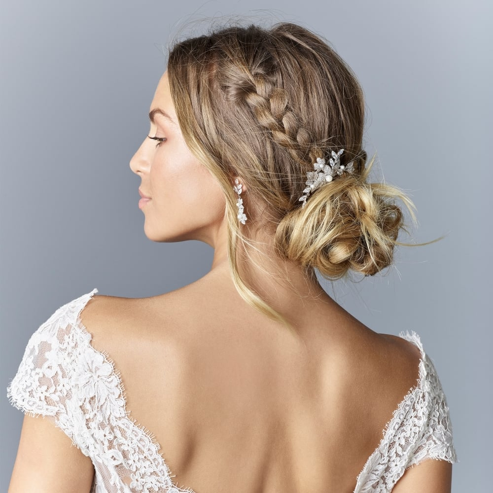 Wedding Hairstyle For Square Face: Bridal Tiaras And Hair Accessories
