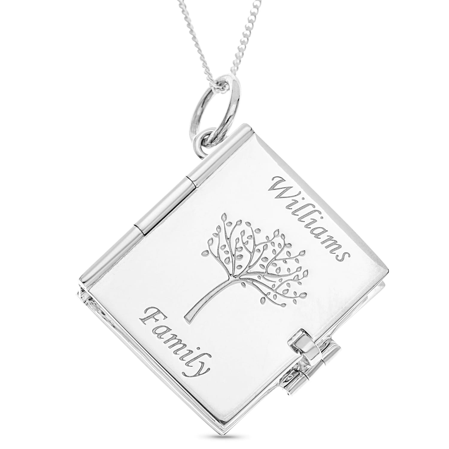 Sterling Silver Family Tree Locket Personalised Gifts