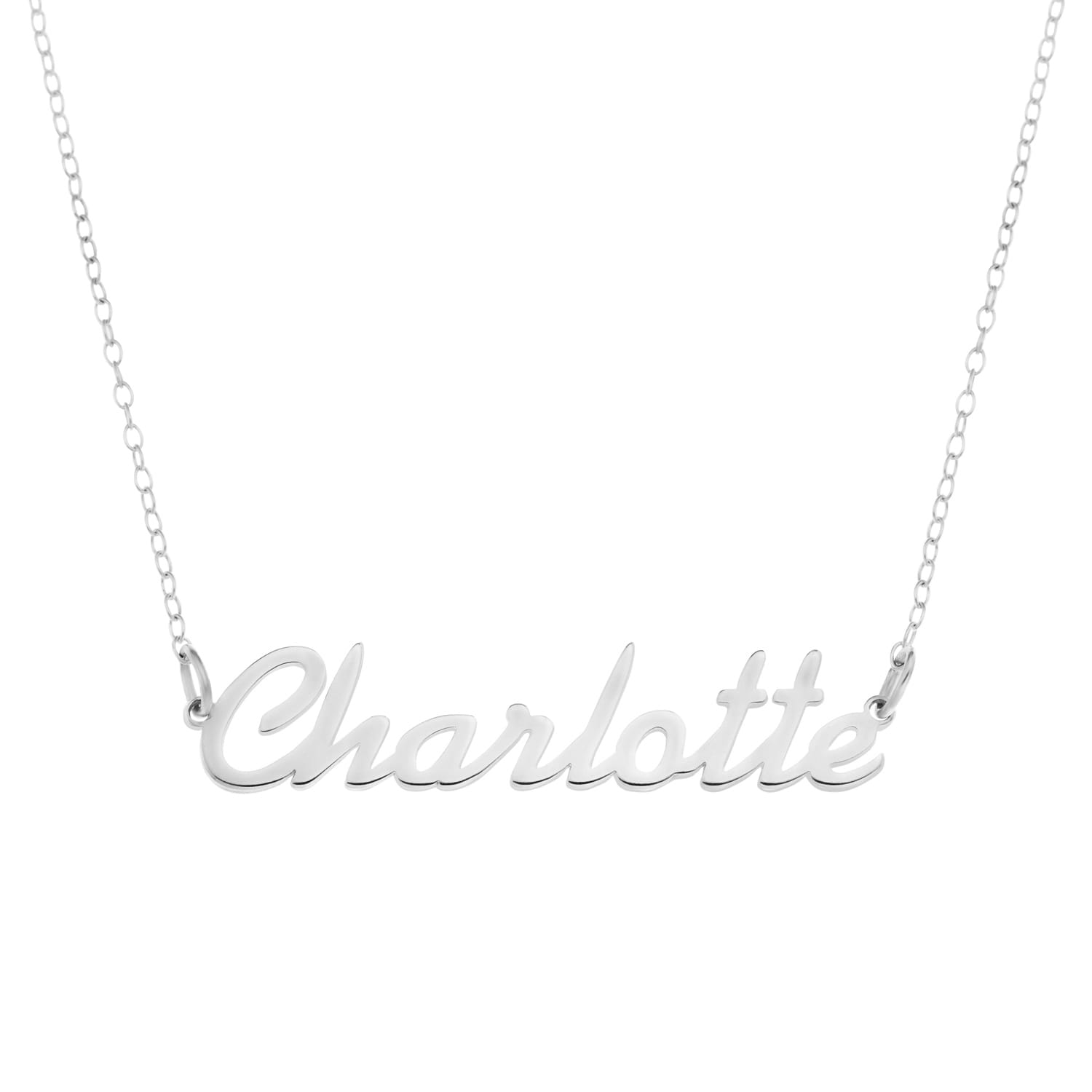 Sterling Silver Personalised Gifts Carrie Bradshaw Name Necklace