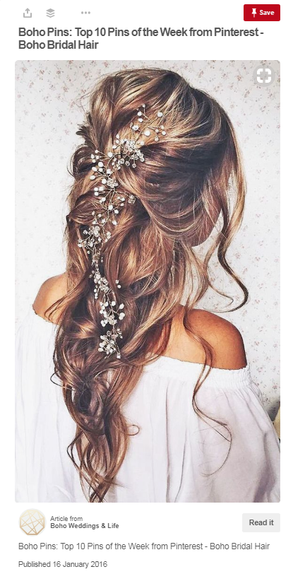 Loose Gorgeous Locks Adorned With Gypsophila Is A Huge Wedding Hair Trend This Year Embrace Your Inner Boho Bride Fl Look