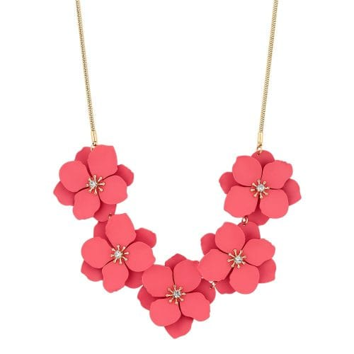 MOOD By Jon Richard Gold Plated Coral Flower Allway Necklace