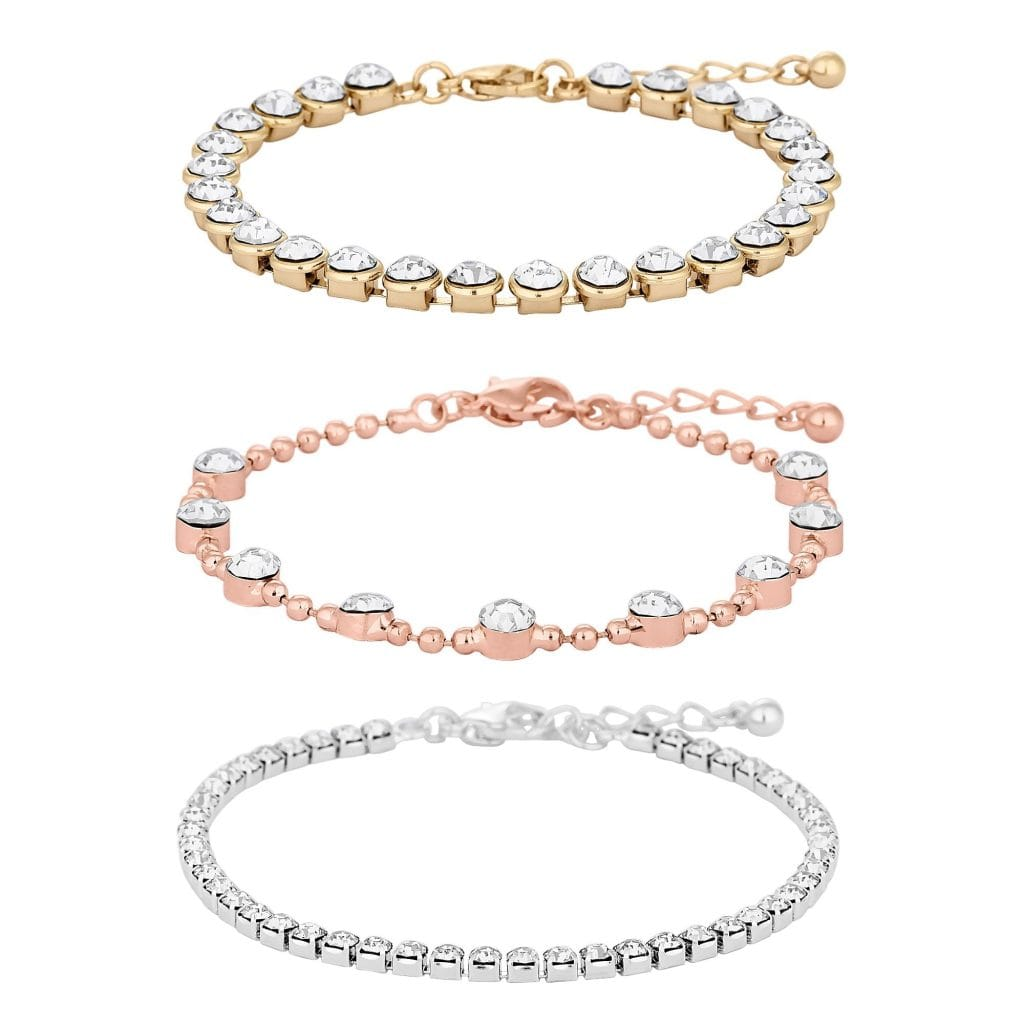 MOOD By Jon Richard Mixed Plate Clear Multipack Toggle Bracelet