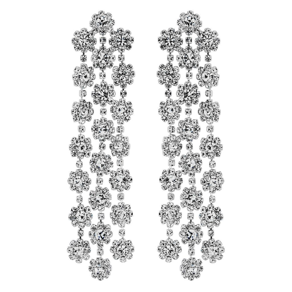 MOOD By Jon Richard Triple Flower Shower Chand Earrings