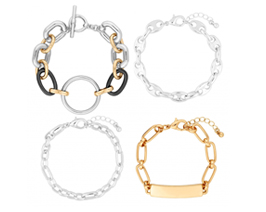 MOOD By Jon Richard Multi Link Chain Bracelet Pack Of 4