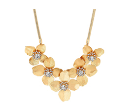 MOOD By Jon Richard Gold Plated Gold Flower Allway Necklace