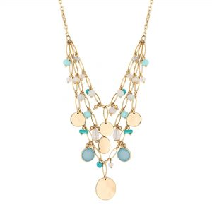 MOOD By Jon Richard Abalone Cluster Necklace