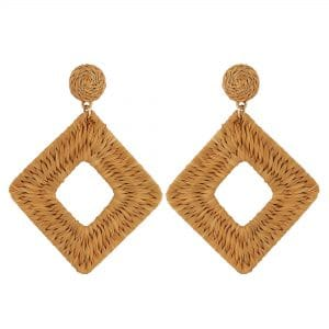 MOOD By Jon Richard Basket Weave Diamond Drop Earrings