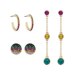 Lipsy Bright Multicolour 3 Pack Earring