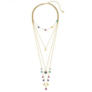 Lipsy Bright Multicolour Layered Necklace