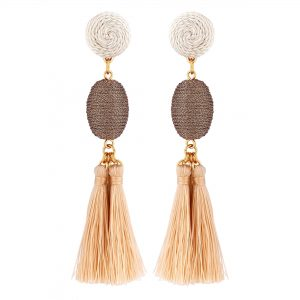 Lipsy Cream Tassel Earring