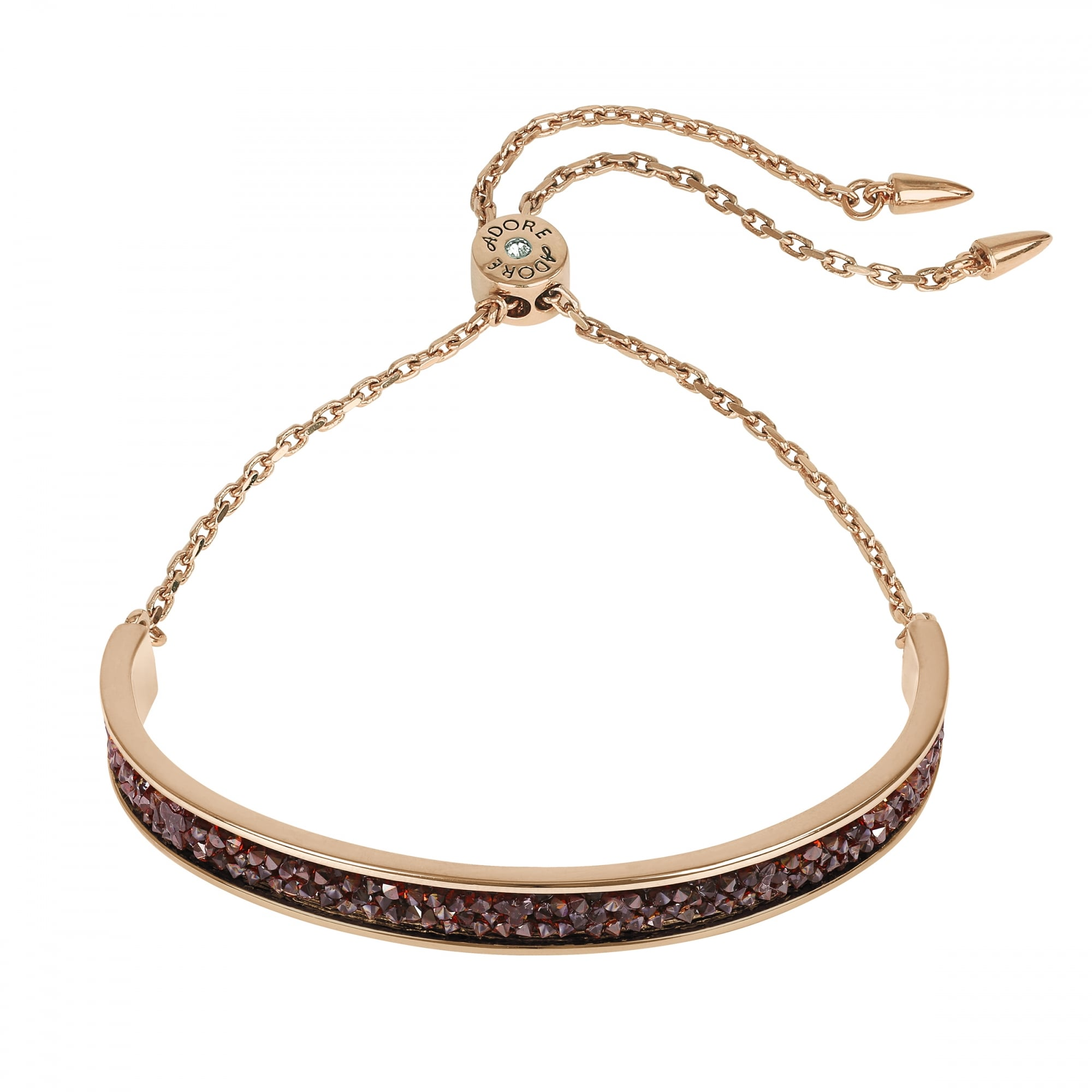 the pave original bracelet rose under bar undertherose diamond by gold product