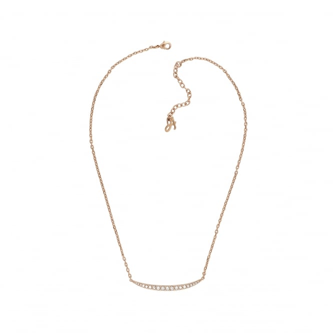 Adore Gold Bar Necklace Created With Swarovski® Crystals