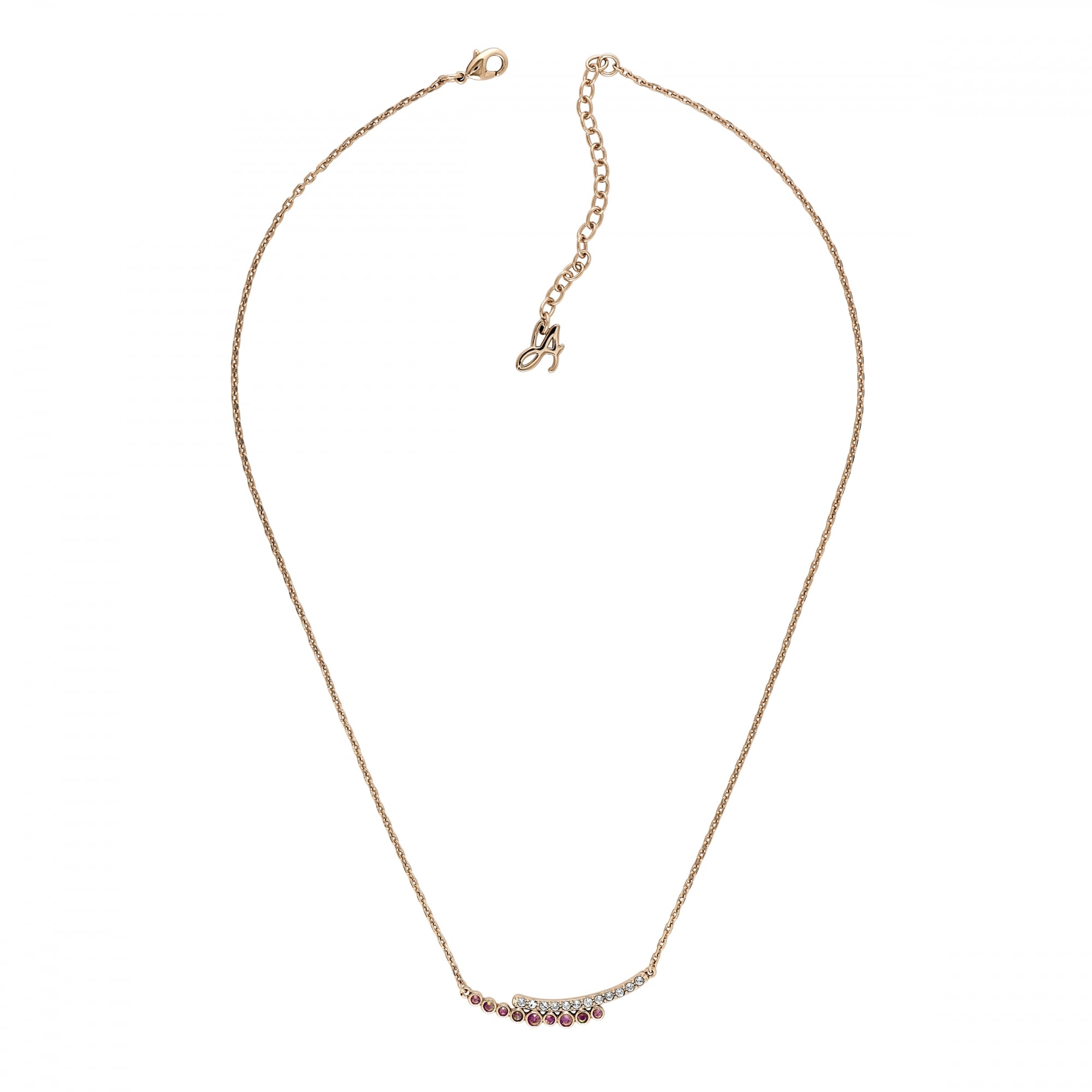 d0624ea9b Adore Gold Curved Bar White / Pink Necklace Created With Swarovski® Crystals
