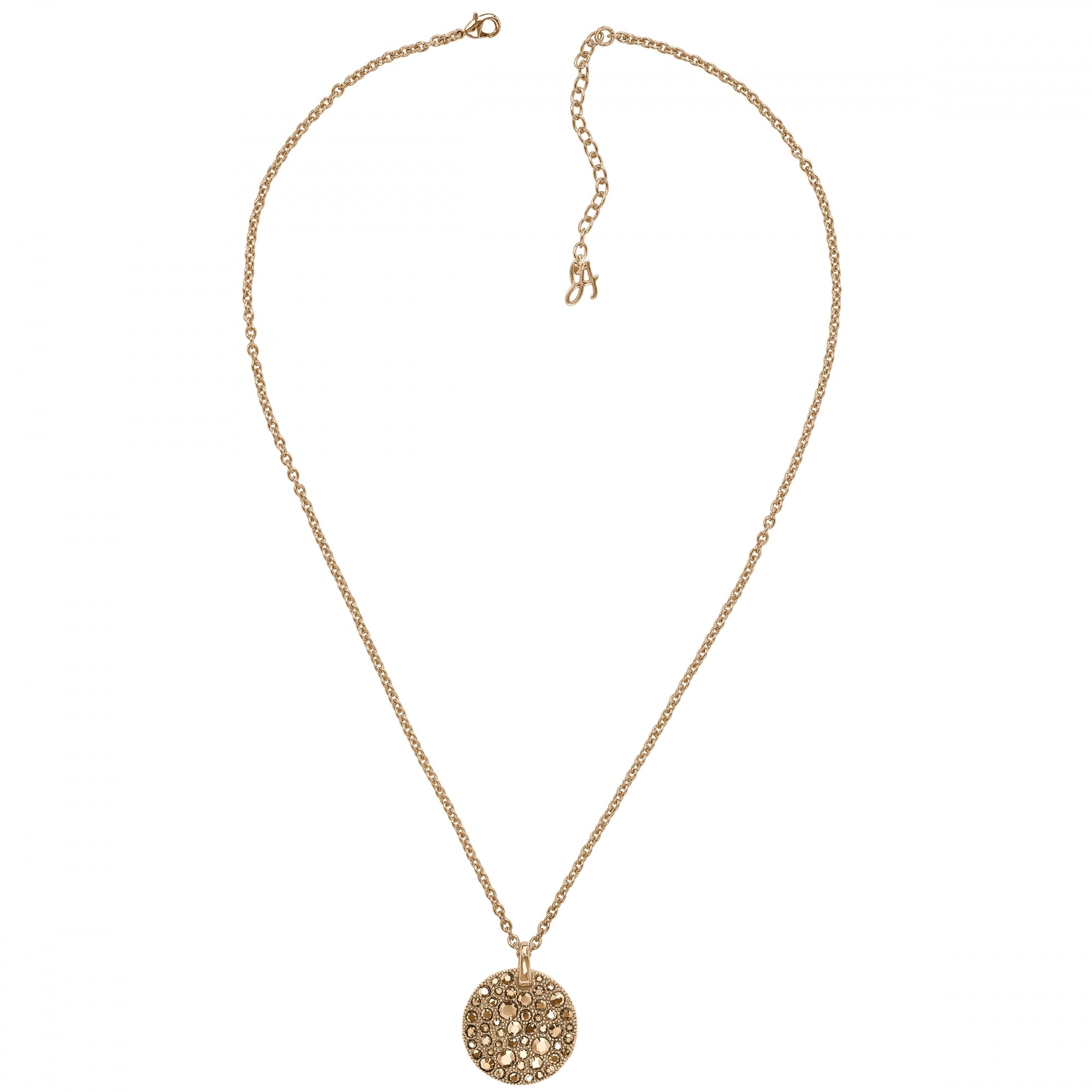 yellow rose gold jewellery necklace lauryn carat disc