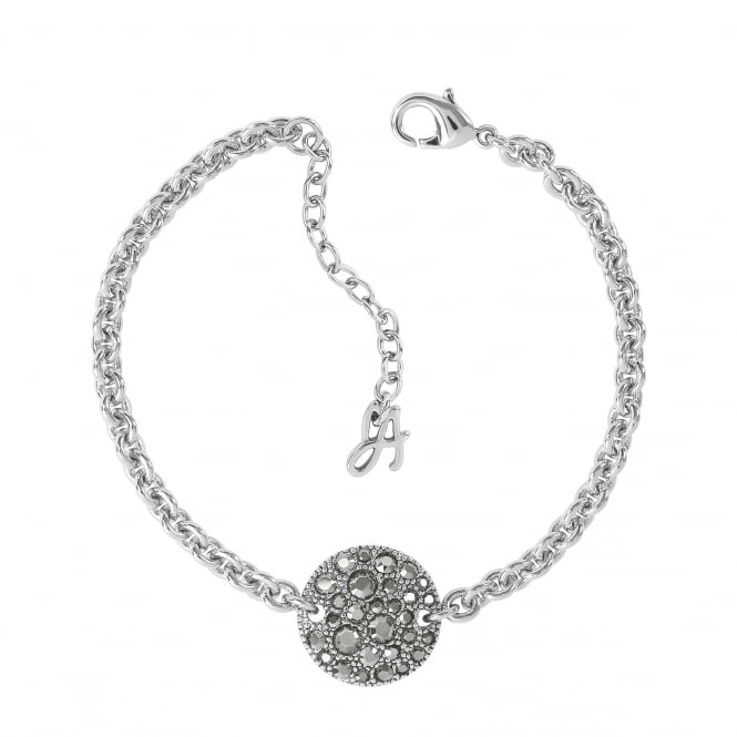 Silver Pave Disc Bracelet Created With Swarovski Crystals