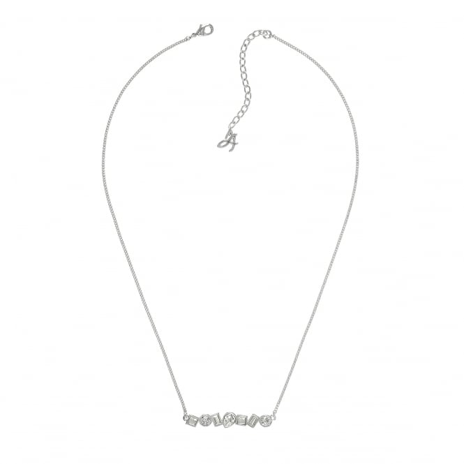 Silver Multi Shape Necklace Created With Swarovski Crystals