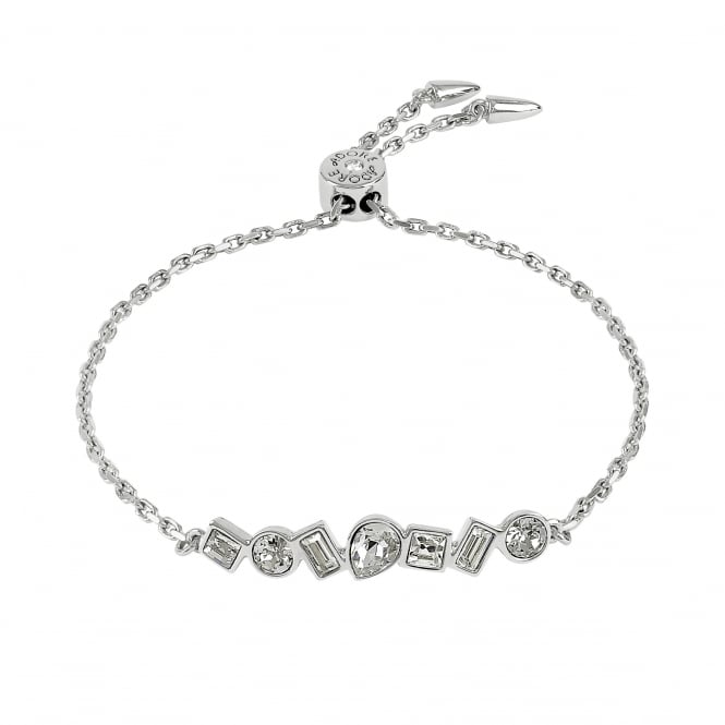 Silver Multi Shape Toggle Bracelet Created With Swarovski Crystals