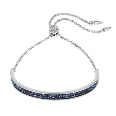 7ad9dad30 Silver Blue Crystal Cluster Bar Bracelet Created With Swarovski® Crystals