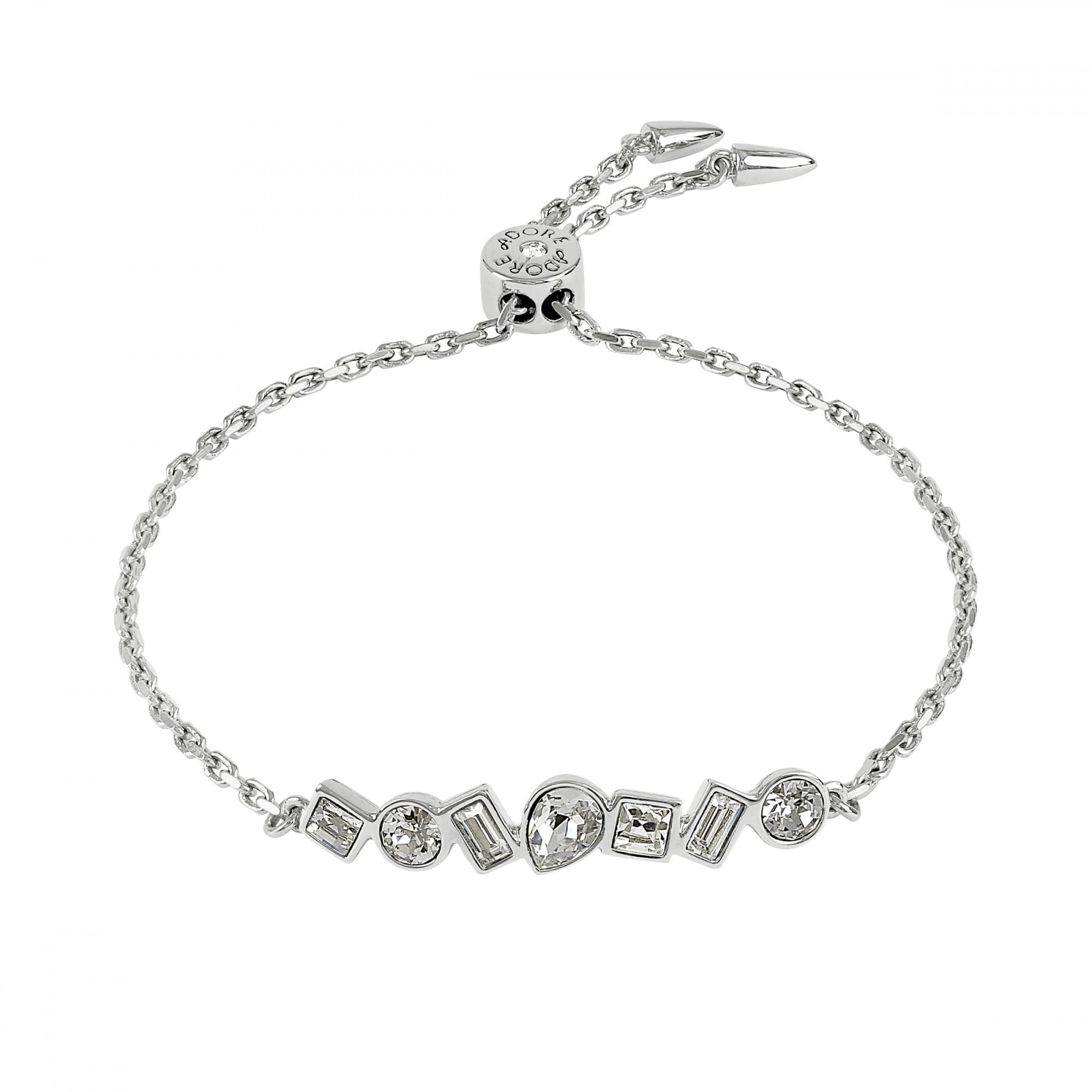 3df379fc8b61 Adore Silver Multi Shape Toggle Bracelet Created With Swarovski® Crystals