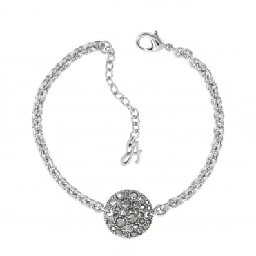50895923c Silver Pave Disc Bracelet Created With Swarovski® Crystals
