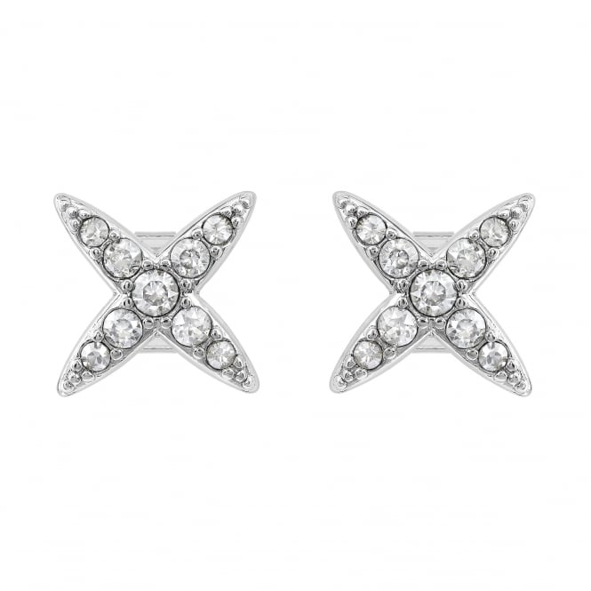Adore Silver Star Stud Earring Created With Swarovski® Crystals