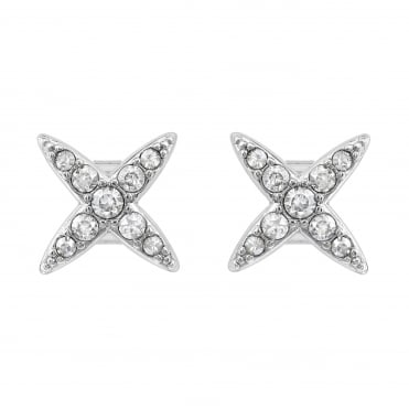 Silver Star Stud Earring Created With Swarovski® Crystals
