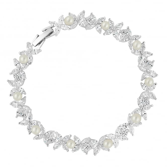 Alan Hannah Devoted Designer Aurora Pearl And Cubic Zirconia Bracelet