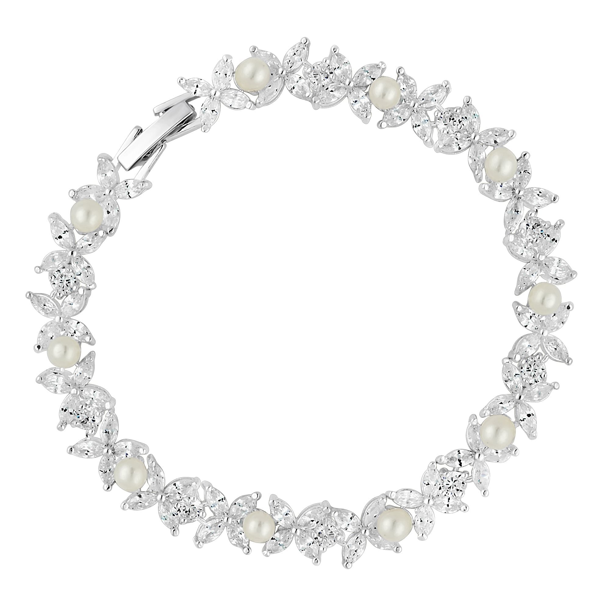 sterling silver cubic ladies aj zirconia bracelet essentials jewellery