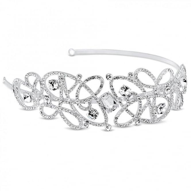Designer crystal embellished swirl headband