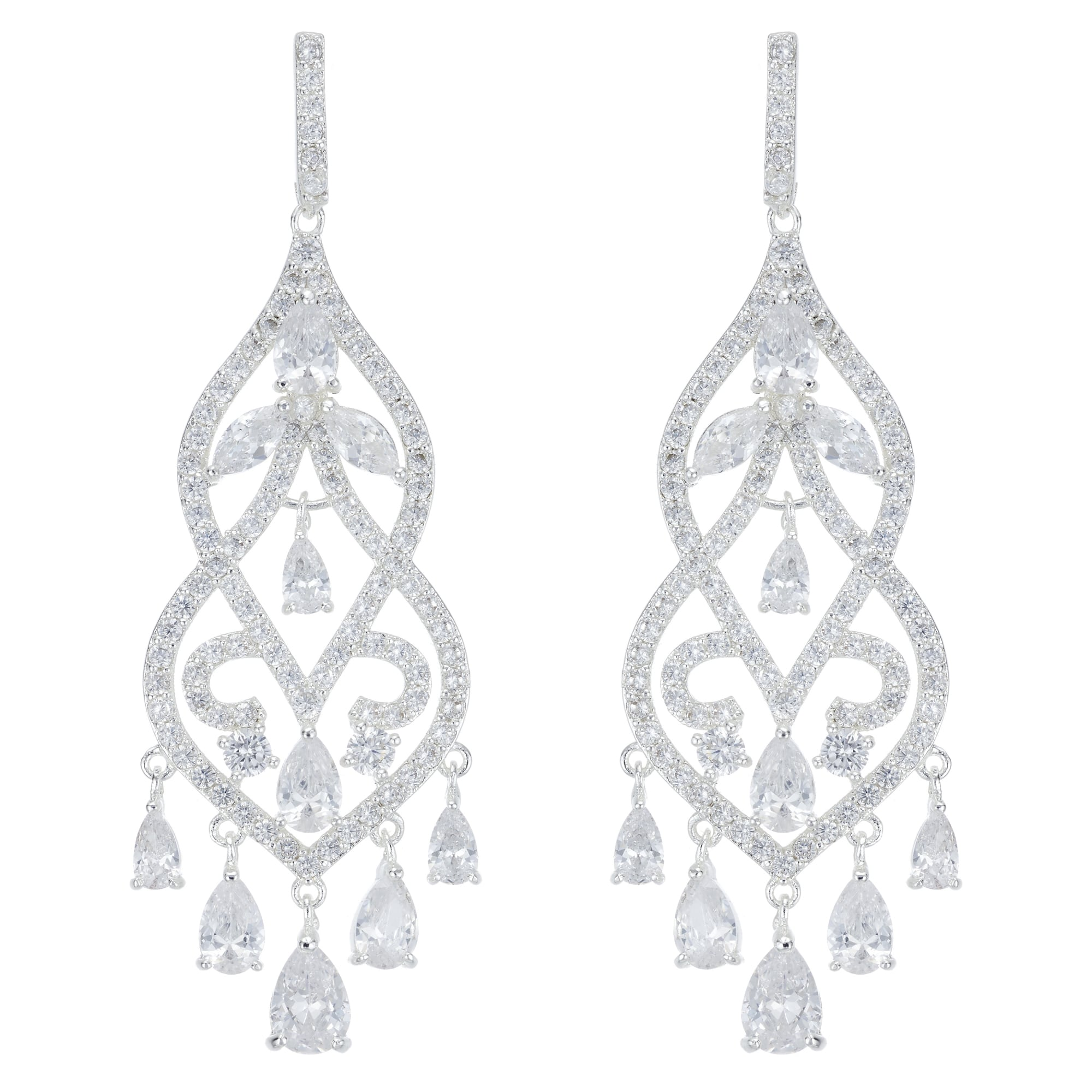 Alan hannah devoted designer silver crystal filigree statement designer silver crystal filigree statement chandelier earring aloadofball Choice Image