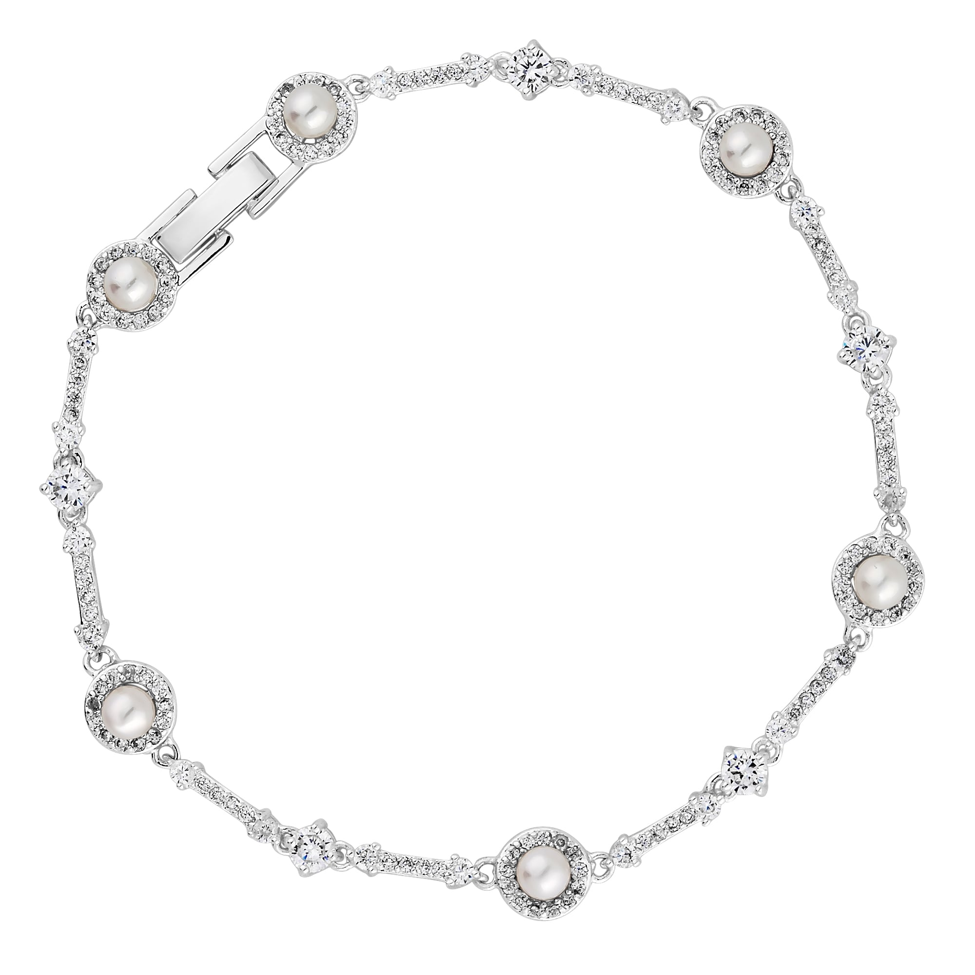 firestar bracelet in ellipse white gold diamond halo oval products