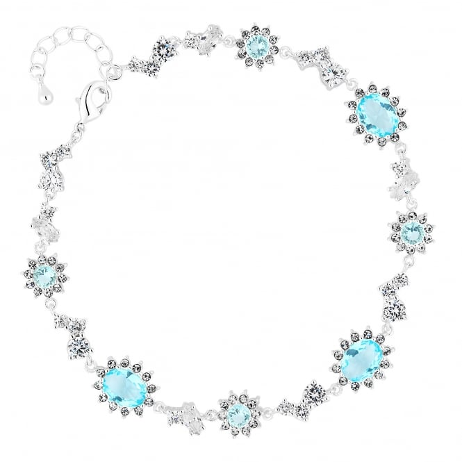 Enchanted Silver Blue Cubic Zirconia Clara Bracelet