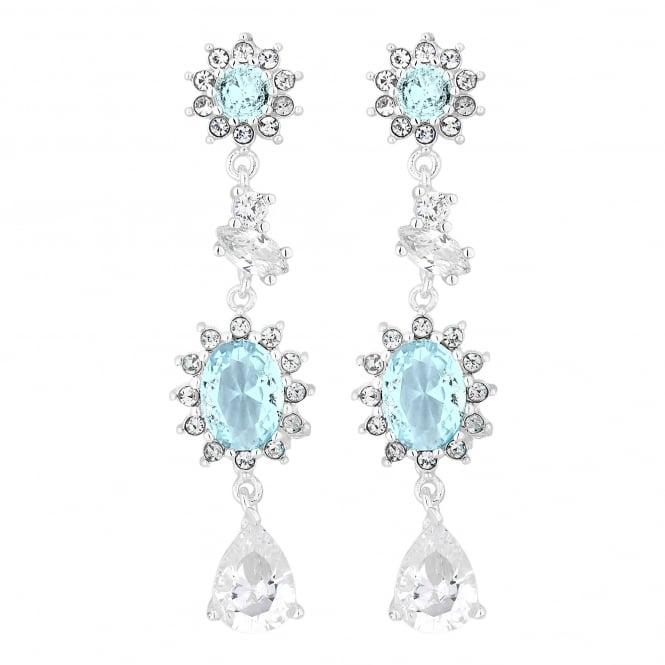 Enchanted Silver Blue Cubic Zirconia Clara Earring