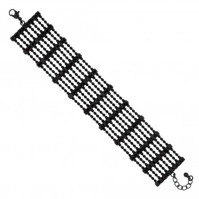 Black Crystal Multi Row Bracelet