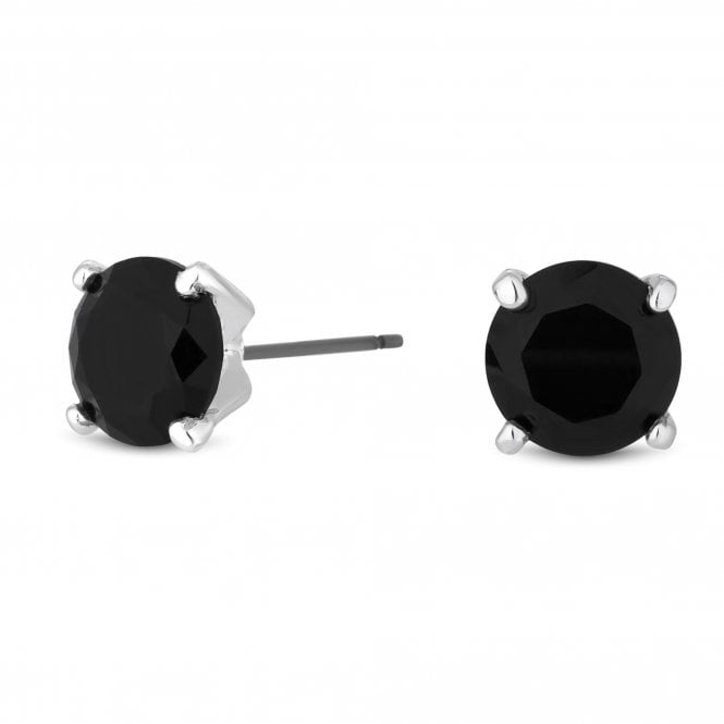 Black Cubic Zirconia Stud Earring