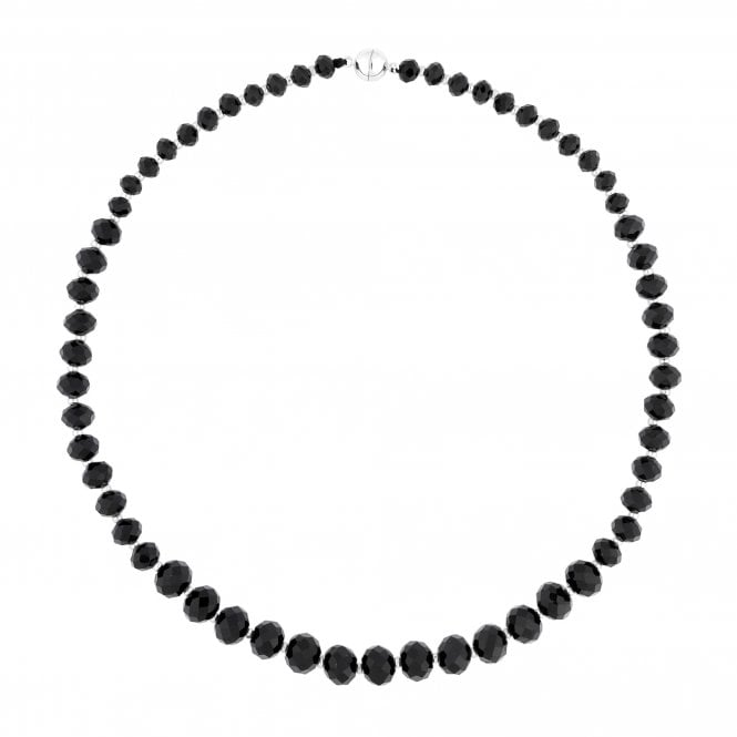 Black Graduated Bead Magnetic Necklace