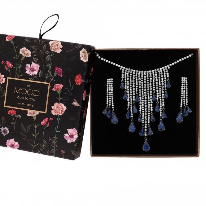 Blue Crystal Shower Jewellery Set