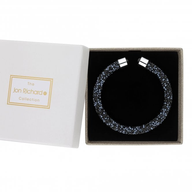 Blue Crystal Sparkle Bangle In A Gift Box