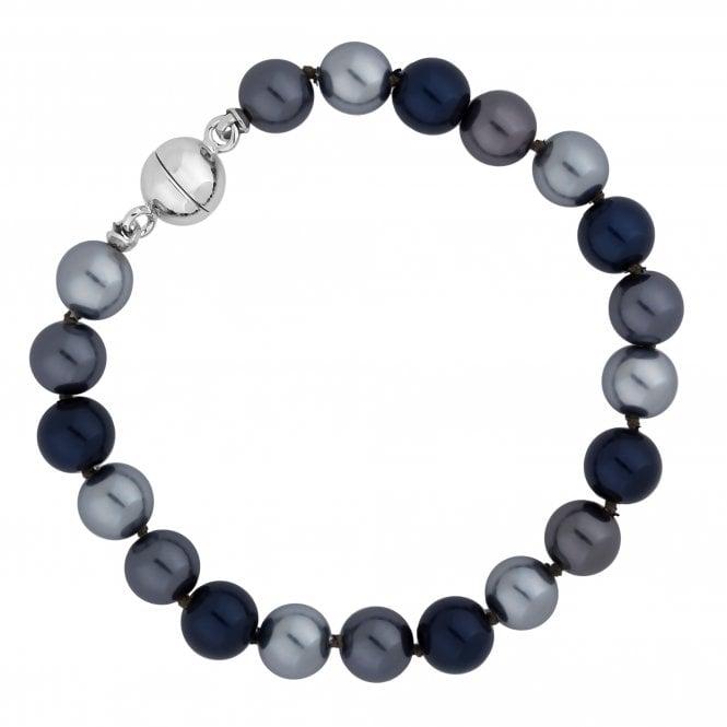Blue Multi Tone Pearl Magnetic Bracelet