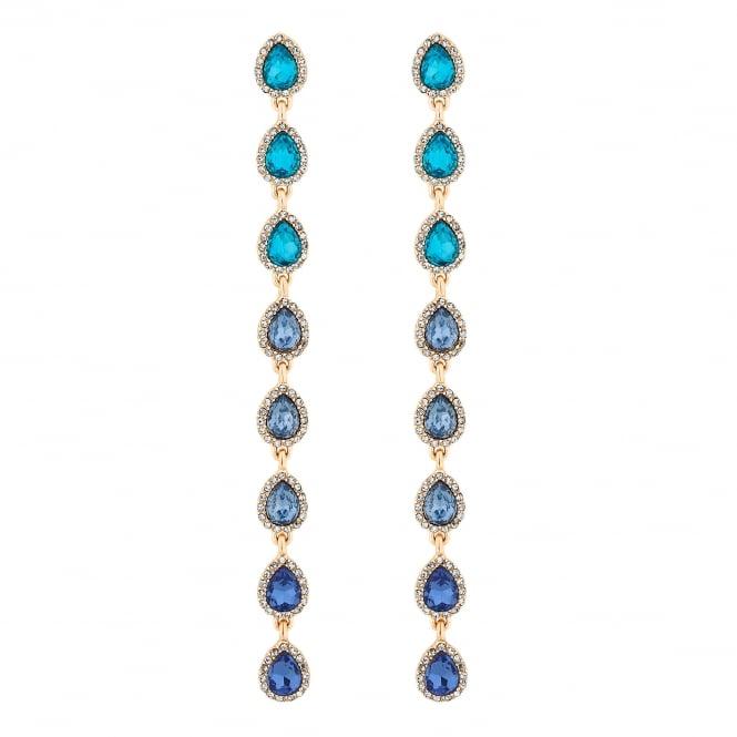 Blue Ombre Crystal Drop Earrings