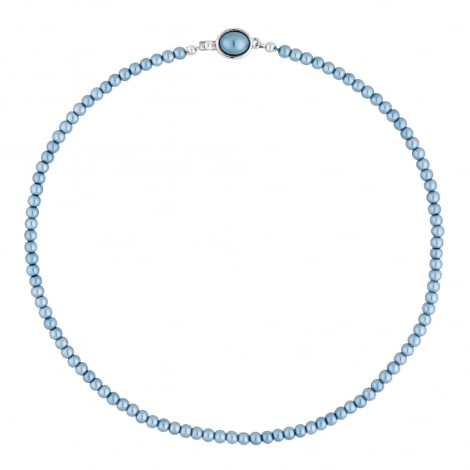 Jon Richard Blue Pearl Clasp Necklace