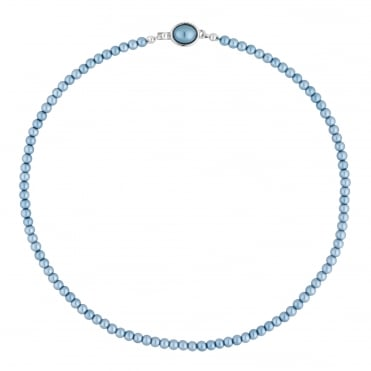 Blue pearl clasp necklace