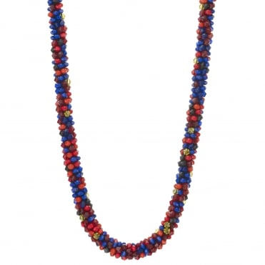Cluster bead necklace