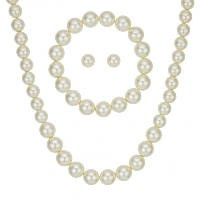 Cream Pearl Jewellery Set