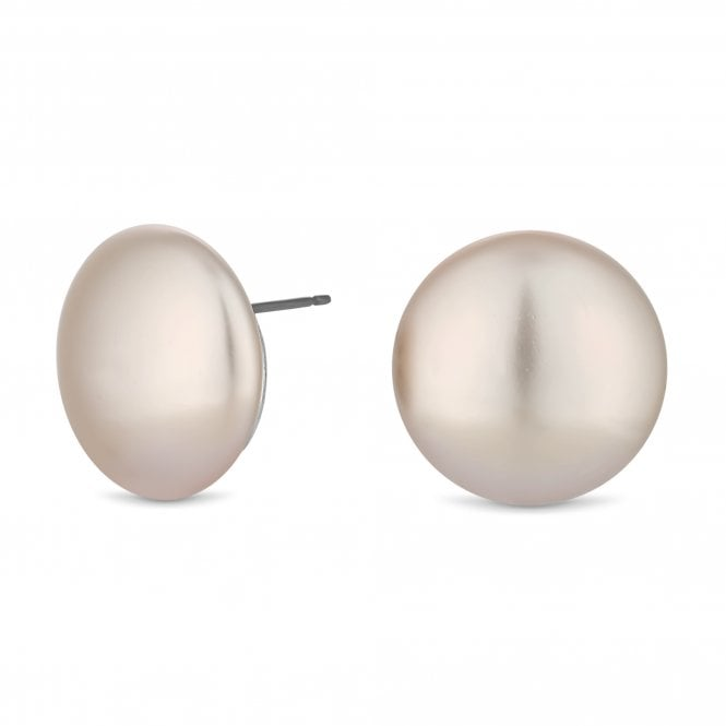 Cream Pearl Large Stud Earring