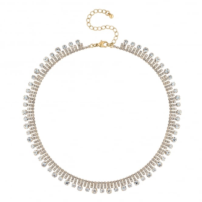 Jon Richard Gold Plated Crystal Circle Collar Necklace