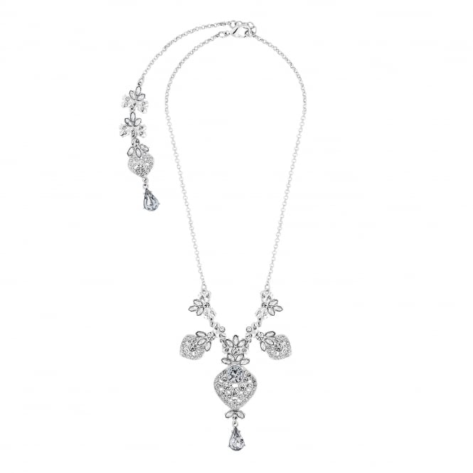 Lipsy Crystal filigree front and back necklace